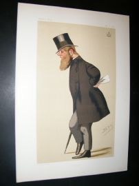 Vanity Fair Print 1876 Viscount Midleton, Spy Cartoon